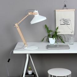 Tafellamp Woody Hout Wit