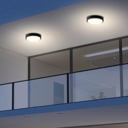 Buiten plafondlamp Fuga zwart 20W IP65
