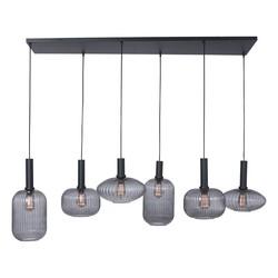 Hanglamp Danske 6-lichts smoked glas