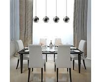 Moderne - Hanglamp - Zwart - Smoke glas - 4 lichts - Ø25 cm - Orb