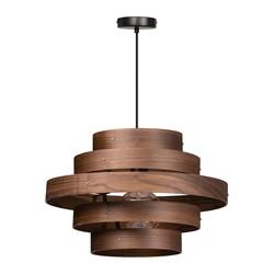 Hanglamp Walnut 5 ringen Ø 50 cm Hout