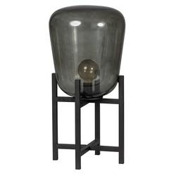 Tafellamp Benn 1-lichts zwart / gun metal glas