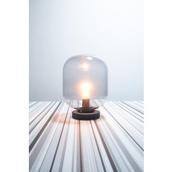 Tafellamp Mini Benn  1-lichts zwart / gun metal glas