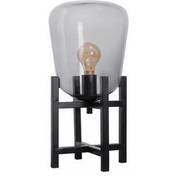 Tafellamp Benn mini 4-poot zwart / gun metal glas
