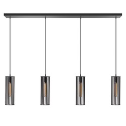 Hanglamp Birdy 4-lichts zwart 120 cm
