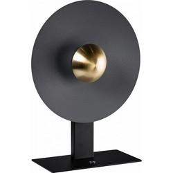 Moderne tafellamp Sunn 1-lichts zwart messing