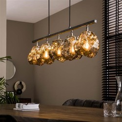 Hanglamp Ice Cube 5-lichts chrome glas oud zilver