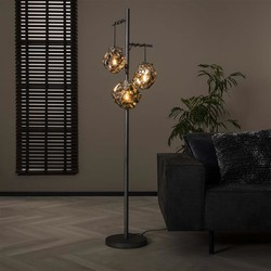 Vloerlamp Ice Cube 3-lichts oud zilver