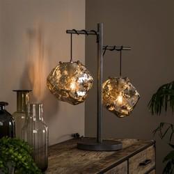 Tafellamp Ice Cube 2-lichts chrome glas