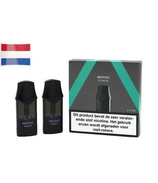 Hexa Hexa Pods NL - Menthol | 20mg Nicotine Salt