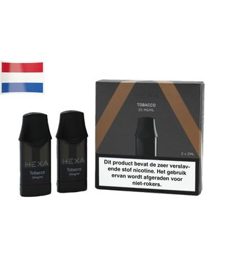 Hexa Hexa Pods NL - Tobacco | 20mg Nicotine Salt