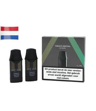 Hexa Hexa Pods NL - Tobacco Menthol | 20mg Nicotine Salt