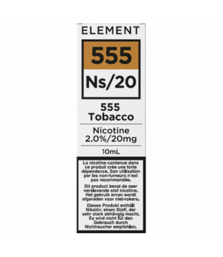 Element Element Ns20  | 555 Tobacco - 20mg - 10ml