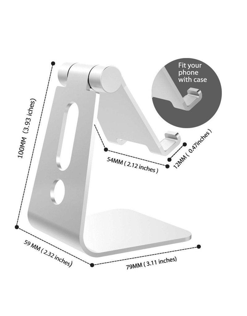 270 graden draaibare aluminium smartphone / tablet houder