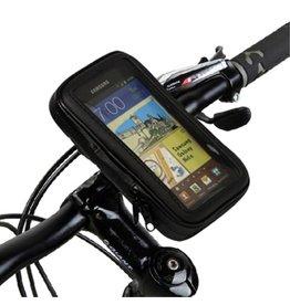 Waterdichte fiets telefoonhouder 145 x 82 x 15mm - zwart