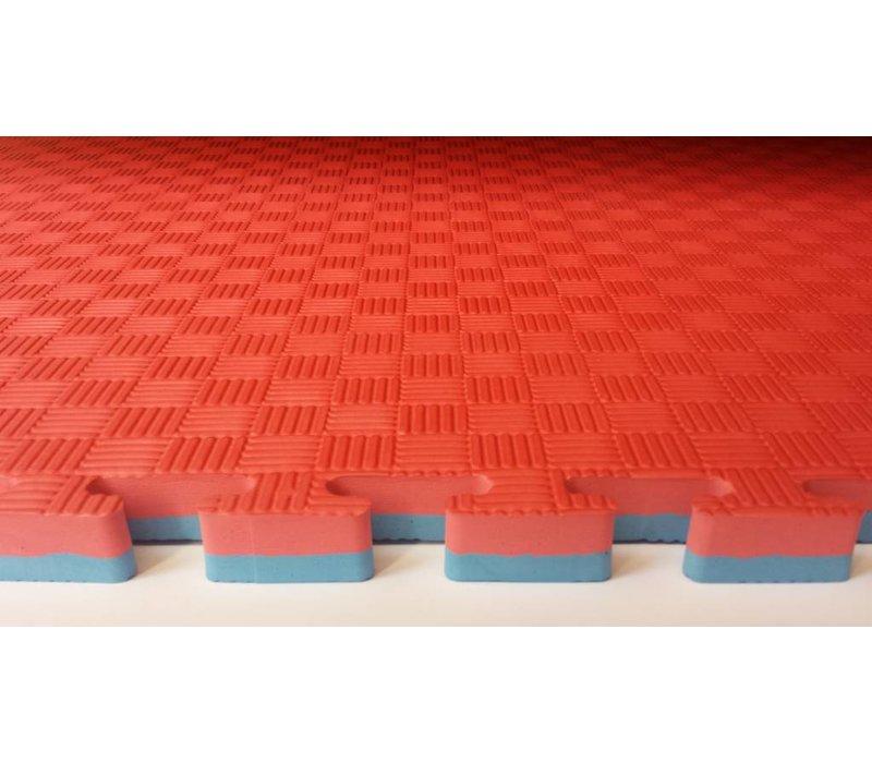 2,5 Cm Puzzelmatten rood/blauw of groen/zwart