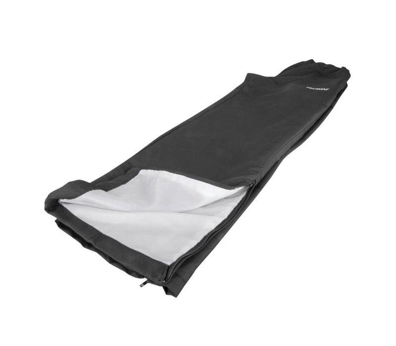 Polyester trainingsbroek, zwart - S