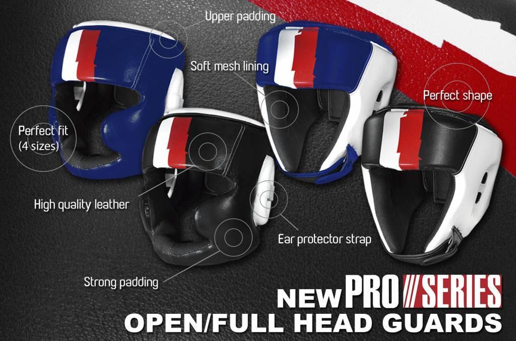 Nieuwe Leren Pro serie Hoofdbeschermer bij Best Fightshop!