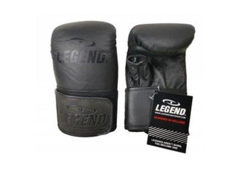 Lederen bokszak handschoenen