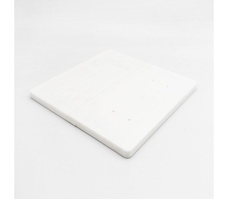 Witte breekplank