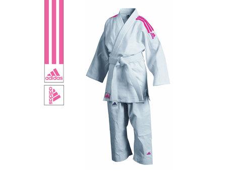Adidas Judopak J350 Club Wit/Roze 1