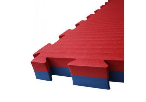 Puzzelmat 100 x 100 x +-2,5 cm Rood - blauw - Gratis verzonden