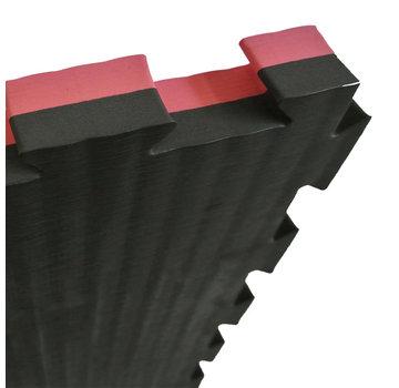 Puzzelmat 100 x 100 x 4 cm Zwart/Rood - Gratis verzonden