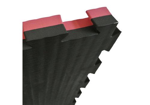Puzzelmat 100 x 100 x 4 cm Zwart/Rood