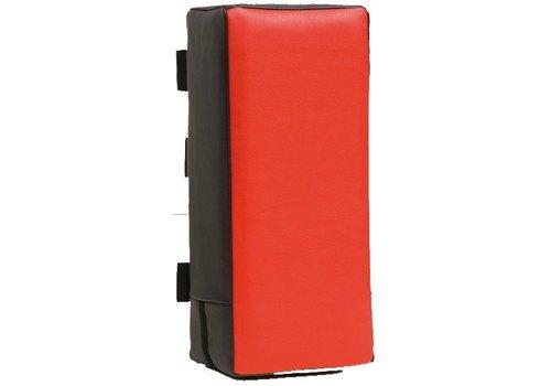 Armpad 45 x 20 x 15 cm zwart/rood