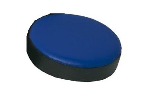 Handtarget/ handpad 7 x 27 cm rond Zwart/blauw
