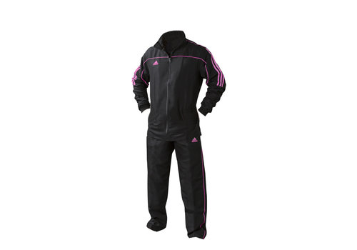 Adidas Team Track Trainingsjack Zwart/Roze maat