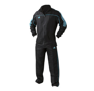 Adidas Team Track Trainingsjack Zwart/Blauw (zonder broek)