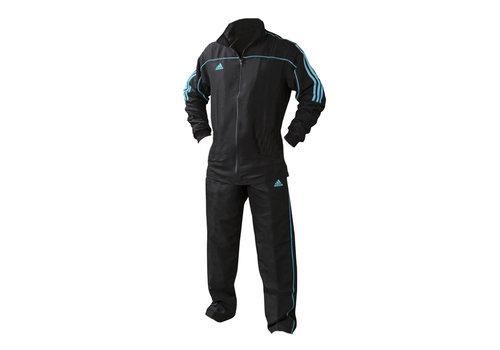 Adidas Team Track Trainingsjack Zwart/Blauw maat