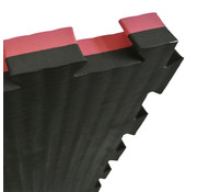 Puzzelmat 100 x 100 x +- 2,5 Zwart/rood - Gratis verzonden