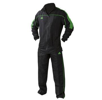 Adidas Team Track Trainingsjack Zwart/Groen  (zonder broek)