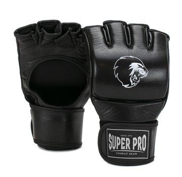 Combat Gear Slugger MMA Handschoenen Leder Zwart/Wit