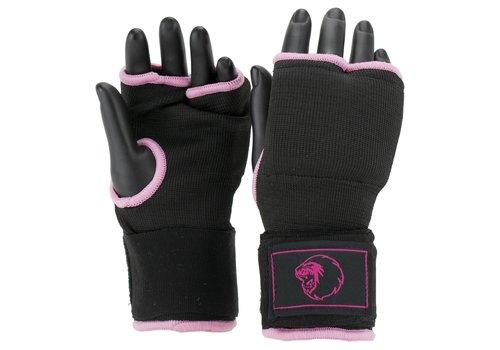 Combat Gear Binnenhandschoenen Met Bandage Zwart/Roze