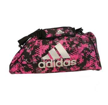 Adidas Combat Sporttas Polyester 2 in 1 Roze Camo/Zilver