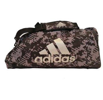 Adidas Combat Sporttas Polyester 2 in 1 Zwart Camo/Zilver