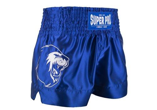 Combat Gear Thai en Kickboksbroekje Hero Blauw/Wit