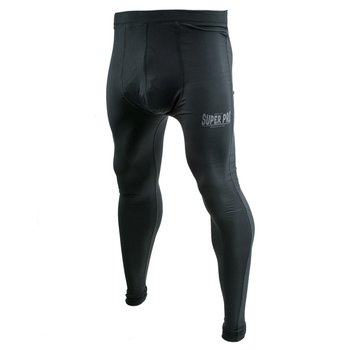 Legging Men Lion/Super Pro Logo Zwart/Grijs