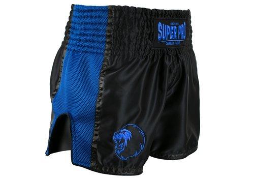 Combat Gear Thai en Kickboksbroekje Brave Zwart/Blauw