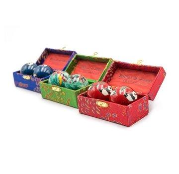 Chinese Cloisonne Baoding Balls