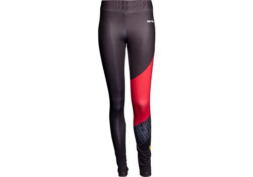 Top Ten Legging, tights ITF Color Ray -black-red, size XS