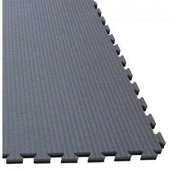 Puzzelmat 100 x 100 x +-2,5 cm Zwart/grijs - Gratis verzonden