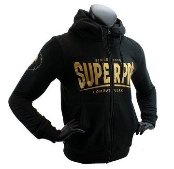Super Pro Hoodie met Rits S.P. Logo Zwart/Goud