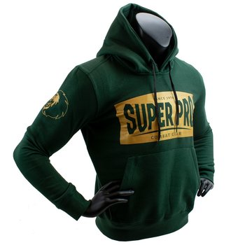 Super Pro Hoodie S.P. Block-Logo Groen/Goud