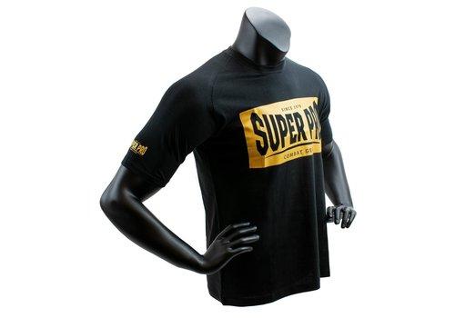 Super Pro T-Shirt S.P. Block-Logo Zwart/Goud