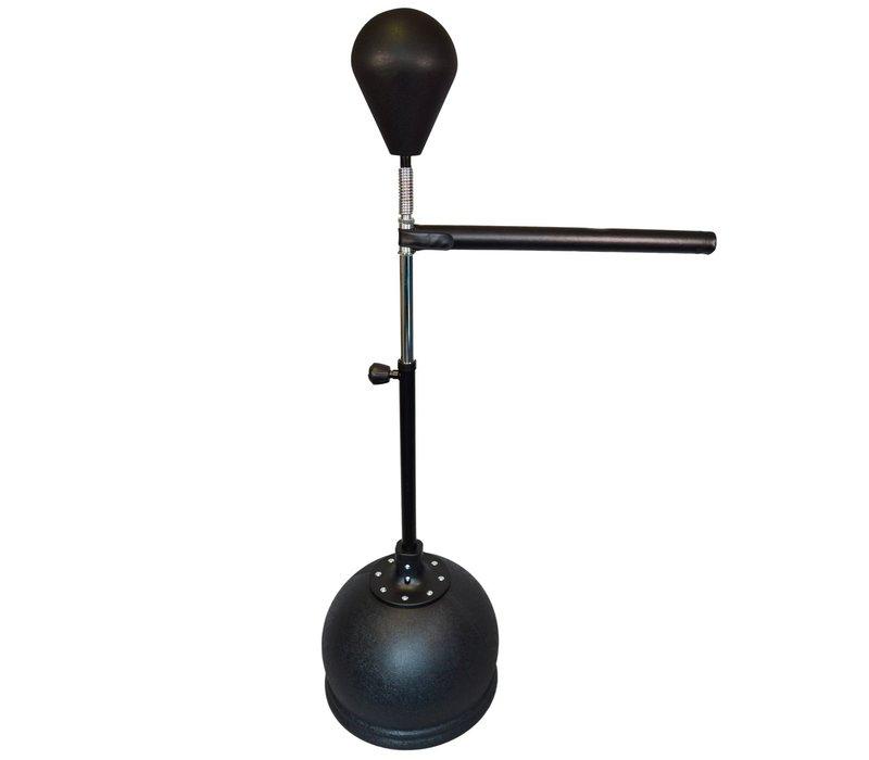 verstelbare speedbal op voet zwart met reflextrainer