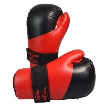 Pointfighting semi contact handbeschermers rood-zwart